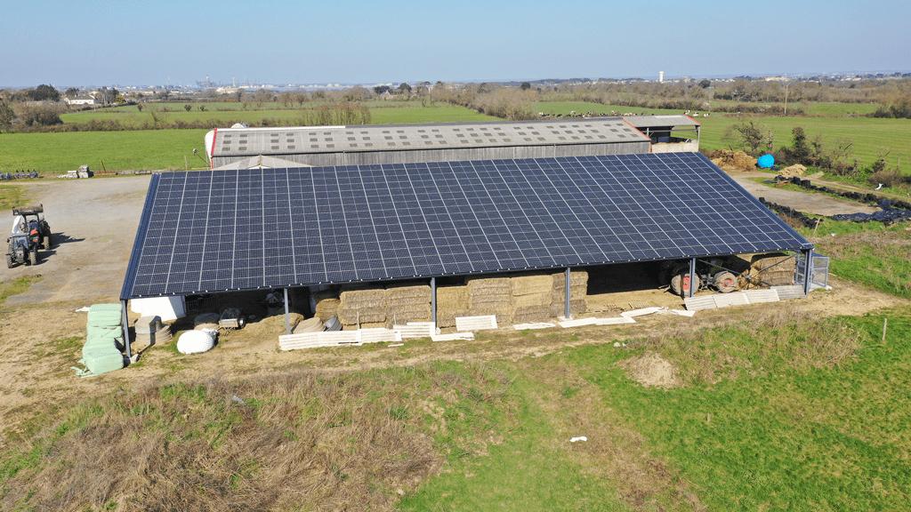 hangar photovoltaique stockage