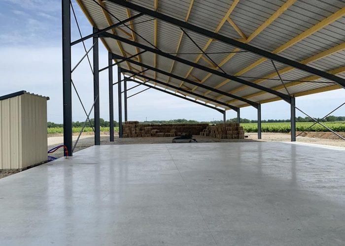 hangar photovoltaïque stockage